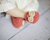 CROCHET PATTERN & Video Tutorial - Mini Maryjanes - 4 sizes: 0-3 mo, 3-6 mo, 6-9 mo, 9-12 mo