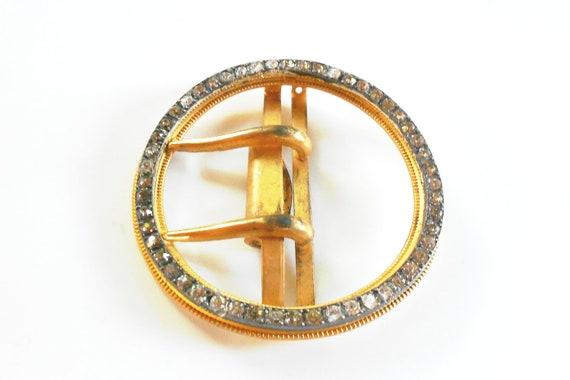 Antique Fishel Nessler belt buckle rare early F N Co., austrian crystal antique buckle, bridal sash