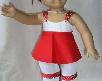 """American Girl capri outfit fits dolls like Samantha and other 18"""" dolls"""