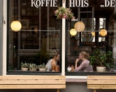 Extra Large Wall Art-Cafe Culture Amsterdam-Koffie Huis-A Coffee House Cafe-De Jordaan Neighborhood-Travel Photography-20x30