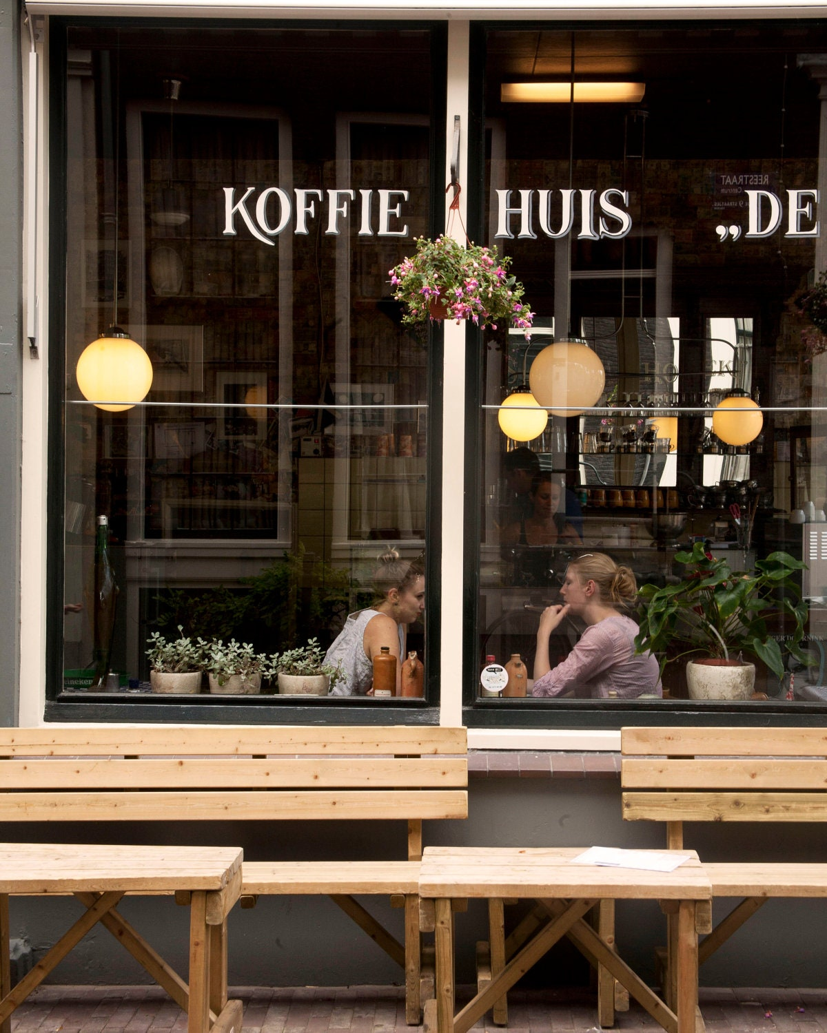 Extra Large Wall Art-Cafe Culture Amsterdam-Koffie Huis-A