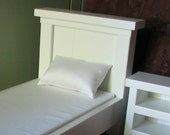 Doll mattress and pillow for American Girl or other 18 inch doll bed