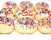 Sprinkle Cookies, Confetti Cookies, Holiday Party - 1 Dozen, DAIRY FREE