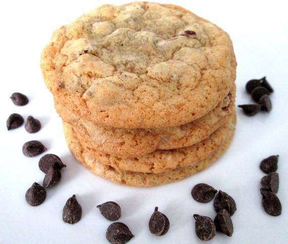 Jumbo Chocolate Chip Cookies, Homemade Chocolate Chip Cookies - 6 Large Cookies, Dairy Free, Holiday Party