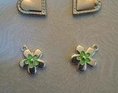 4 Piece Charm Set - Hearts - Flowers