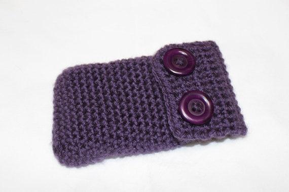 Purple Cell Phone Case, Crochet