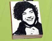 Harry Styles - Necklace Pendant Polymer Clay - One Direction OOAK