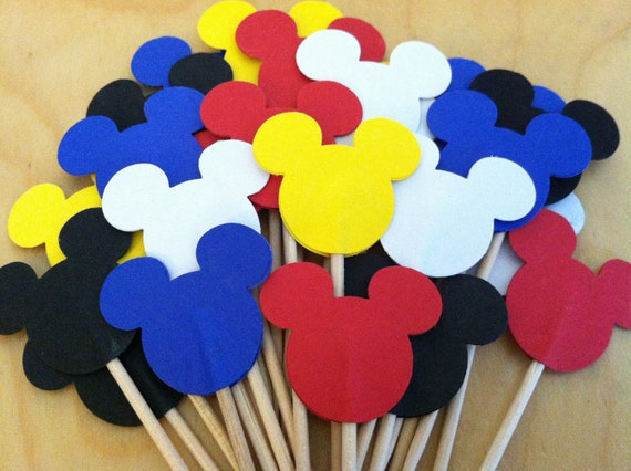 24  mickey cupcake toppers