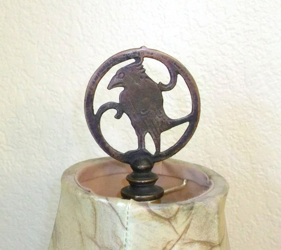 lamp finial vintage bird lamp topper lighting supplies round lamp. Black Bedroom Furniture Sets. Home Design Ideas