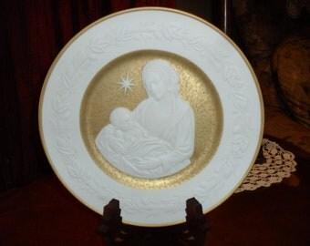 Franklin Mint Porcelain Silent Night Collector Plate