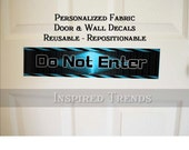 Personalized  Durable Diamond Plate Door or Wall Decal Removable Reusable