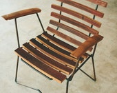 Cask arm chair, handcrafted chair, rustic modern