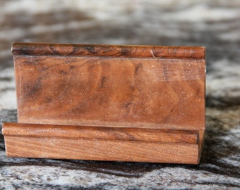 Business or Recipe Card Holder Handmade out of Walnut - Free Shipping to USA