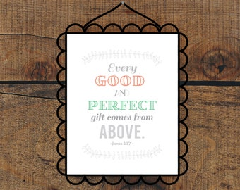 Every Good & Perfect Gift Print