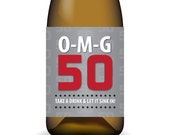 O-M-G 50 ... Printable Birthday Wine Label Wrap - Instant Download