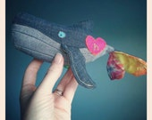 Upcycled and organic lily & gus/Shanna's Tie Dye whale (tiny)