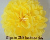 Yellow Tissue Paper Pom Pom - 1 Medium Pom - 1 Piece - Ships within ONE Business Day - Tissue Poms - Tissue Pom Poms - Choose Your Colors!