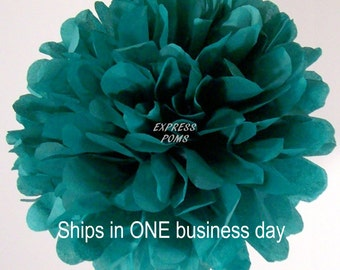 Jade Tissue Paper Pom Pom - 1 Large Pom - 1 Piece - Ships within ONE Business Day