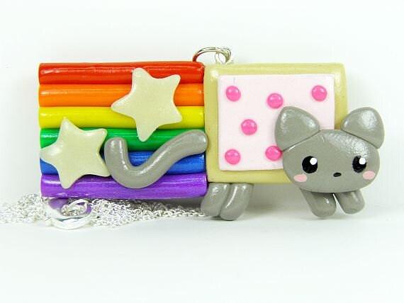 Kawaii Nyan Cat Poptart Toaster Pastry Charm Necklace Jewelry