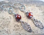 Sterling Fine Silver Tribal Earrings