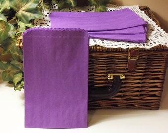 Purple Paper Bag, Purple Bag, SALE - 100 Purple 6x9 Paper Gift Bags, Merchandise Bags, Favor Bags, Weddings, Showers, Birthdays, Treats