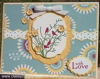 Handmade, 3- Dimensional, Stamped Card for Any Occasion