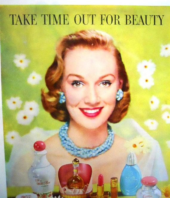 Retro Avon Cosmetics.  Magazine Advertisment.