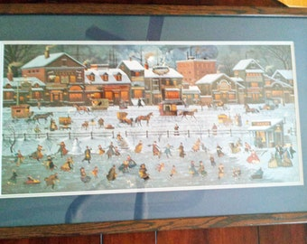 Vintage Charles Wysocki Signed Lithograph Limited Edition Bostonians and Beans