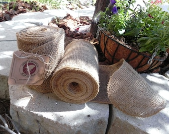 Burlap Garland 10 Yards (30 FEET CONTINUOUS) , Burlap Chair Sash, DIY Burlap Garland Rustic Wedding Accessory