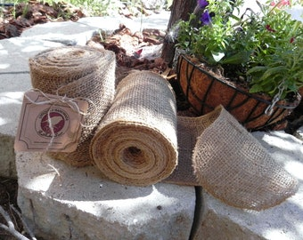 Burlap Garland 10 Yards (30 FEET CONTINUOUS) , Burlap Chair Sash, DIY Burlap Garland Rustic Wedding Accessory