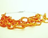 semplice - orange, paper necklace