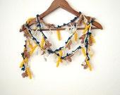 Colorful necklace, crochet lariat, crochet belt, handmade neckwarmer, scarf...