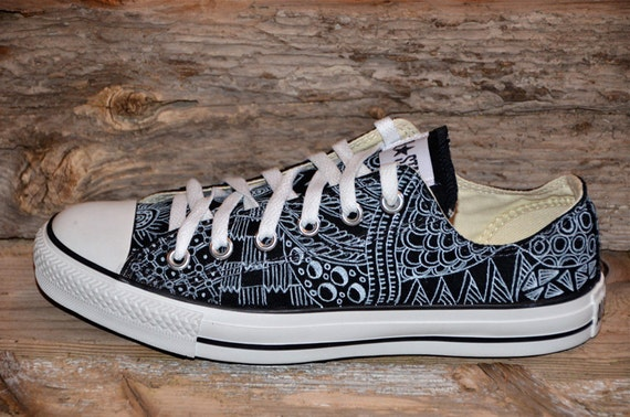 Add Custon Design To Converse Shoes