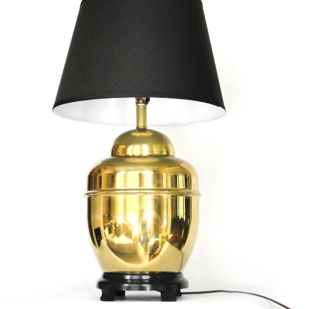 Vintage Lamp Brass Urn Lamp Ginger Jar Mid By BelatedDesigns