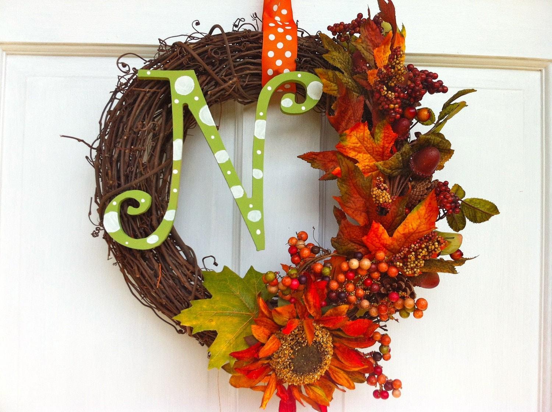 Fall grapevine wreath fall wreath How to decorate a wreath