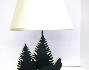 Howling Wolf Table Lamp