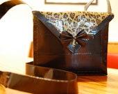 Black & Leopard Duct Tape Crossbody Bag