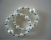 "Queasy Beads™ Motion Sickness Bracelets in ""White Dazzle"""