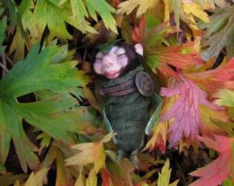 Garden Fairy Baby Hatchling HANDMADE Faerie Sprite  Pixie Sculpture OOAK