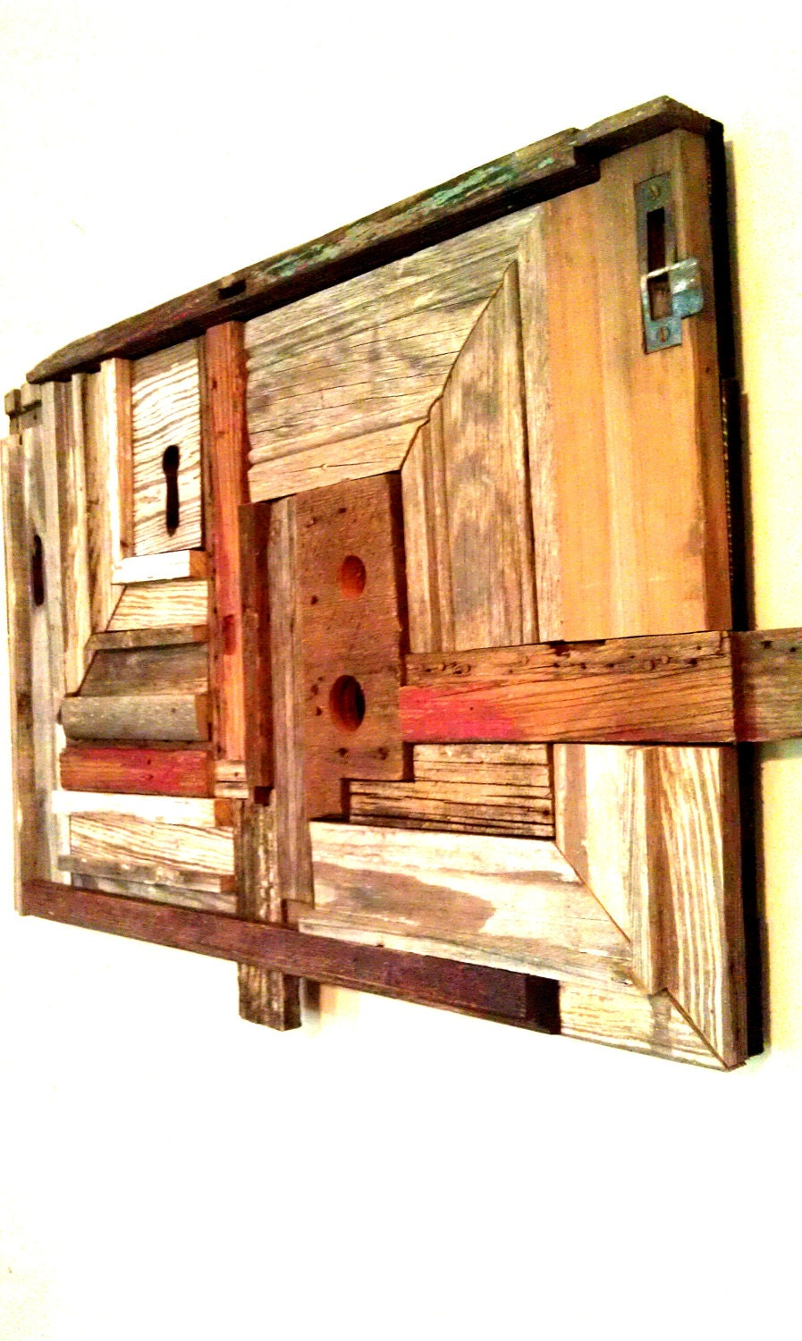 items similar to reclaimed wood wall art wall decor rustic on etsy. Black Bedroom Furniture Sets. Home Design Ideas