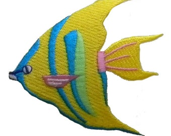 ID 0236 Tropical Fish Fishing Iron On Applique Patch