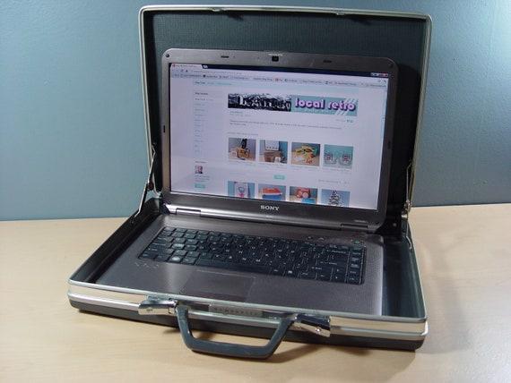 1960s Vintage Mad Men Samsonite Grey Briefcase & Laptop Carrying Case