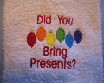 Rainbow Colors Christmas Towel Gay Pride Embroidered