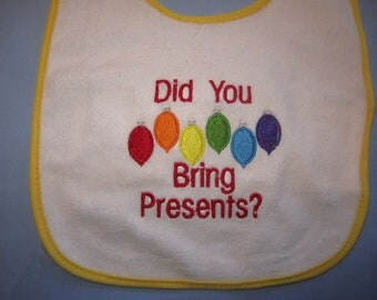 Rainbow Colors Christmas Baby Bib Gay Pride