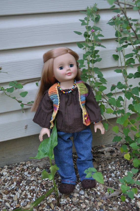 AG, 18 inch doll, hippie outfit, handmade
