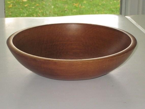 Antique Turned Wood Bowl Nice Wood Grain