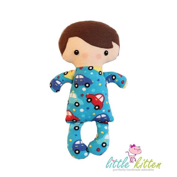 Slumber Buddies - Chester - Flannel Rag Doll - Ready To Ship
