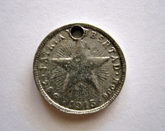 2 Pewter STAR COIN Charms