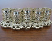 Hollywood Regency Filigree Goldtone Metal Lipstick Holder