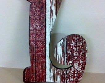 Rustic Wooden Letter,  Ready to hang,  Perfect Accent for any wall